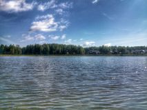 View on the lake Stock Photography