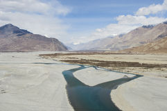 View of lake in Hunder village, Leh Royalty Free Stock Image