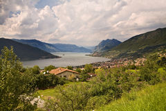 View on lake Iseo Stock Photos