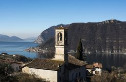View of the Lake Iseo stock images