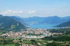View of Lake Iseo in the summer Stock Images