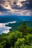 View of Lake Jocassee at sunset, from Jumping Off Rock, North Ca Royalty Free Stock Photos