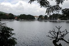 View of  lake in Kandy. Stock Images