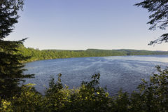 View of the lake in La Mauricie National Park Royalty Free Stock Photo