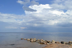 View of Lake Ladoga Stock Photo