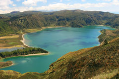 View on lake Lagoa do Fogo Stock Photo