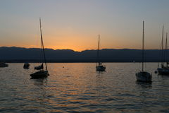 View on the lake Leman Royalty Free Stock Images