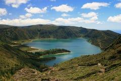 View on lake Logo do Fogo Royalty Free Stock Photo