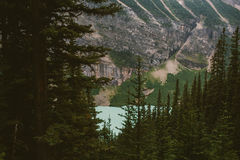 View of Lake Louise from above Stock Photos