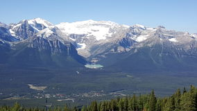 A view on lake Louise Stock Photos