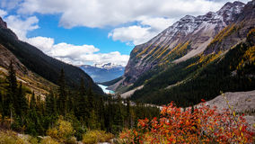View of Lake Louise from the Trail to the Plain of Six Glaciers Royalty Free Stock Photography