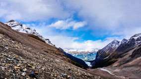 View of Lake Louise from the Trail to the Plain of Six Glaciers Stock Photography