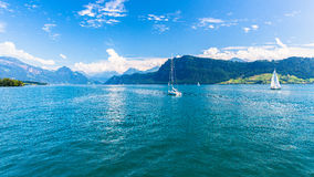 View of Lake Lucerne Royalty Free Stock Photography