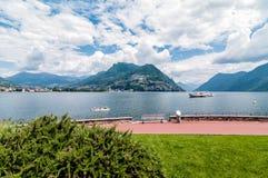View of Lake Lugano Stock Image