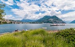 View of Lake Lugano Stock Photos