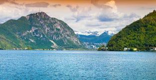 View of Lake Lugano Royalty Free Stock Image