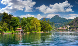 View of Lake Lugano Royalty Free Stock Photography