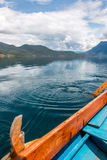 View of lake Lugu coast from boat Stock Photography