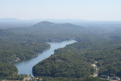 A view of Lake Lure North Carolina Stock Images
