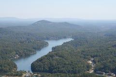 A view of Lake Lure North Carolina Stock Images