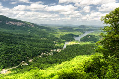 View at Lake Lure in North Carolina from Chimney rock Stock Images