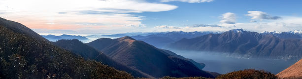 View of the Lake Maggiore Stock Photography