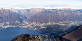 View of the Lake Maggiore Stock Images