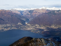 View of the Lake Maggiore Royalty Free Stock Photos