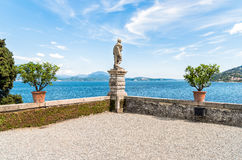View of Lake Maggiore from island Madre, is one of the Borromean Islands, Italy. View of Lake Maggiore from island Madre, is one of the Borromean Islands in royalty free stock photography