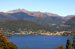 View on Lake Maggiore in Italy. stock image