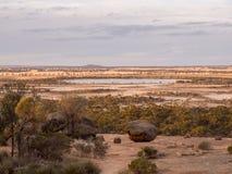 View of Lake Magic and the Wheatbelt, Western Australia Stock Photos