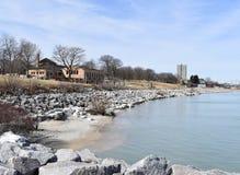 View of Lake Michigan shore royalty free stock images