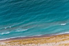 View of Lake Michigan from the top of a dune royalty free stock images