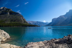 View of Lake Minnewanka in the Rockies Stock Photo