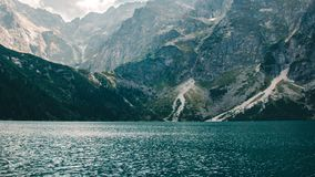 The view of the lake Morskie Oko in the Tatra mountains, Poland royalty free stock photo