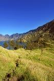 View of lake at Mount Rinjani. Royalty Free Stock Photo