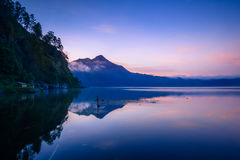 View of a lake and mountain Stock Photos