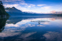 View of a lake and mountain Royalty Free Stock Images