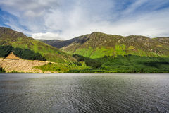 View of the lake in the mountains in Scotland Royalty Free Stock Photos