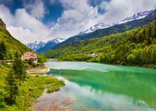 View of the lake near Frazione Pian della Stock Photo