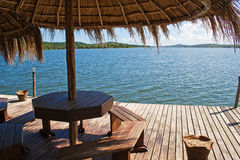 View at Lake Nhambavale in Mozambique. Royalty Free Stock Image