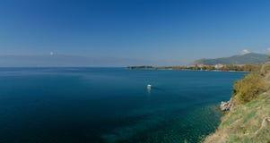 View on Lake Ohrid Stock Photo