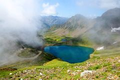 Lake Oncet in the Pyrenees mountains. stock images