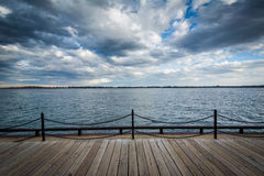 View of Lake Ontario at the Harbourfront in Toronto, Ontario. Stock Photography