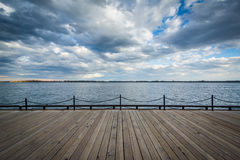 View of Lake Ontario at the Harbourfront in Toronto, Ontario. Royalty Free Stock Photography
