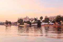 View at Lake Pichola in the evening Stock Images