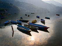 View of the lake in Pokhara Stock Image