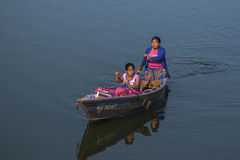 View of the lake in Pokhara Royalty Free Stock Photo