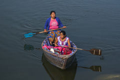 View of the lake in Pokhara Royalty Free Stock Images