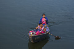 View of the lake in Pokhara Stock Images